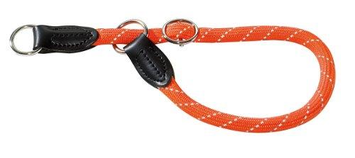 HUNTER Freestyle Reflect Dressurhalsung, Halsband für Hunde, Tau, mit Zugstopper, robust, wetterfest, Größe 45, orange, reflektierend -