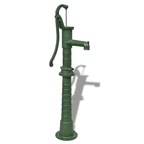 mewmewcat Schwengelpumpe Gartenpumpe Handschwengelpumpe Wasserpumpe Handpumpe Ständer Grün