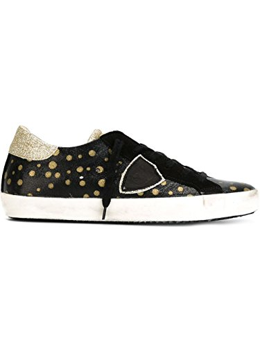 philippe-model-womens-clldjt02-black-gold-leather-sneakers