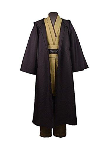 QianQian Klassisch Herren Braun Halloween Cosplay Robe Tunika Kostüm Outfit (Herren-XXXL, (Klassische Herren Kostüme Halloween)