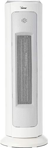 Bimar hp120, termoventilatore ceramico con wi-fi e app, elettrico, silenzioso, basso consumo, potente, 6 funzioni di temperatura, stufa elettrica