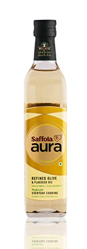 Saffola Aura Refined Olive & Flaxseed Oil - 500ml