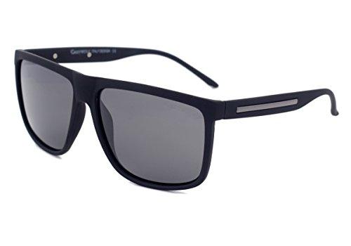 Grey Wolf Polarisierte Sonnenbrille für Männer Herren Fahren Angeln Sport Hellgraue Gläser Schwarz Rahmen Keine Blendung UV Strahlen Schutz