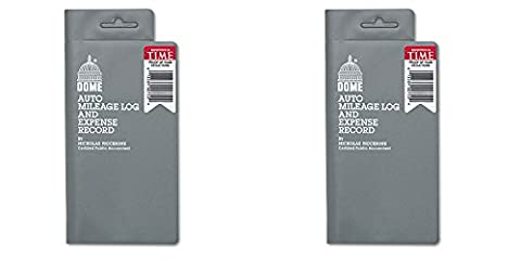 Dome 750 Mileage Log/Expense Record, 3.5 x 6.5 Inches, Logs 324 Trips (DOM750), 2 Packs by DomeSkin