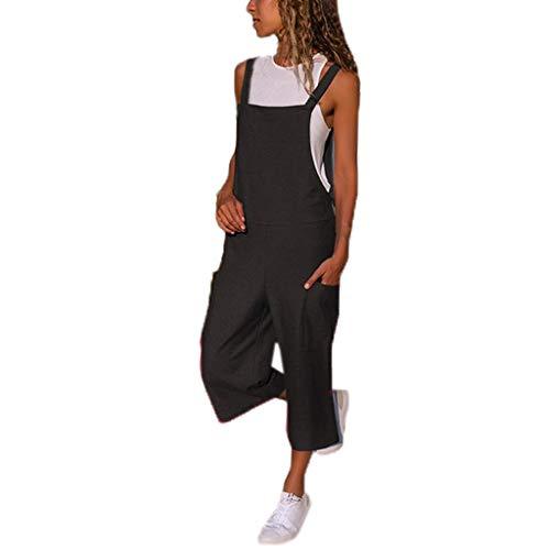 Peto Pantalones de Peto para Mujer STRIR Mujer Baggy Peto Chicas Mono Largo Pantalones Harem Anchos...