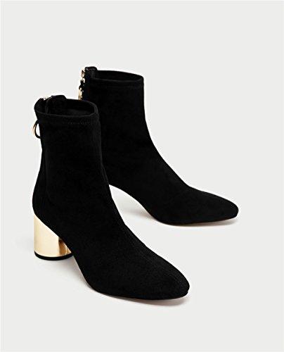 Stivali ruvida con sandali tacchi alti scarpe black