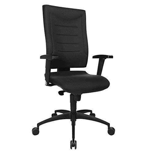 SCHÄFER SHOP Bürostuhl SSI Proline P1, Synchronmechanik, mit Armlehnen & Lendenwirbelstütze, Bandscheibensitz, höhen- und breitenverstellbar, schwarz