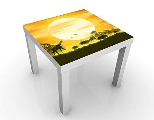 Savannah Beistelltisch (Apalis Design Tisch No.CG9 Savannah Sunset 55x55x45cm Beistelltisch Couchtisch, Tischfarbe:schwarz;Größe:55 x 55 x 45cm)