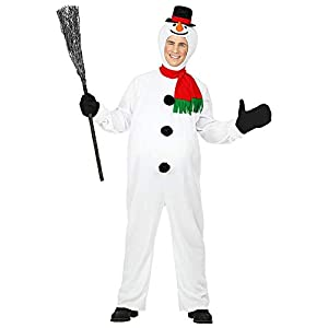 Widmann Srl disfraz de Muñeco de nieve para adulto, Multicolor, wdm07771