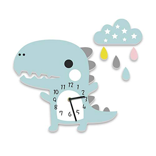 Funihut - Reloj de Pared para habitación Infantil, diseño de Dinosaurio, Reloj de Pared
