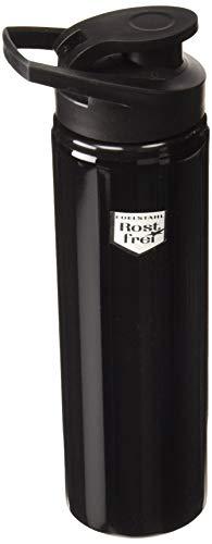 FISCHER Fahrrad-Trinkflasche, Edelstahl, schwarz,750 ml