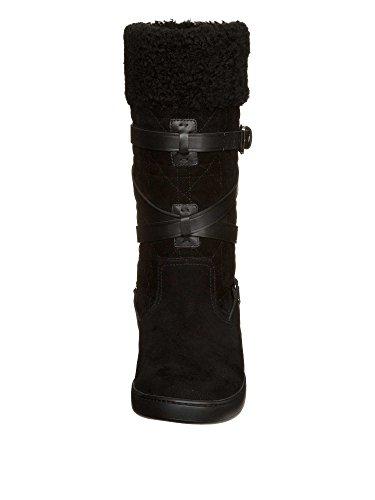 Dior Femmes Bottes cuir véritable Noir
