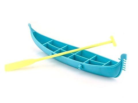 Bac à glaçons en forme de gondole avec rame