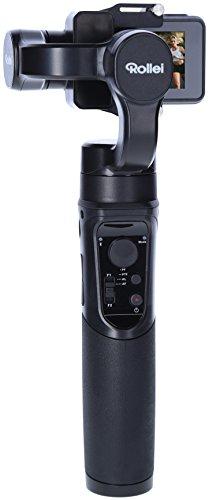 Rollei Actioncam Gimbal Steady Butler Action -3 Achsen Schwebestativ (Stabilisator/Steadycam) für Actioncams mit Integrierter Power Bank, Passend für GoPro Hero 6/5/4 und 3 Sowie Weitere Actioncams