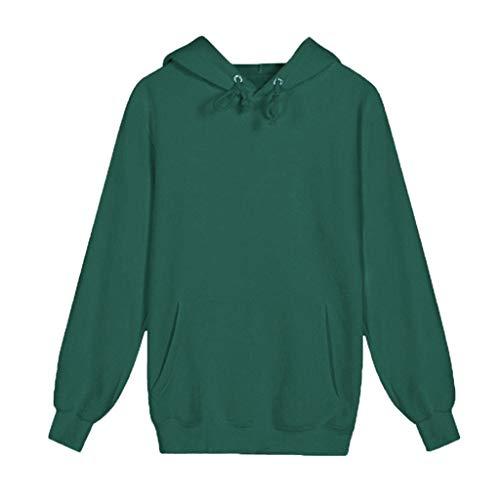 Essential Crew Pullover Sweatshirt, ◆Elecenty◆ Classic Hoodie Jacke Kapuze Hoodie Kapuzenpullover Reine Strickpullover Feinstrick Langen Ärmeln Tops - Midweight Denim Shirt