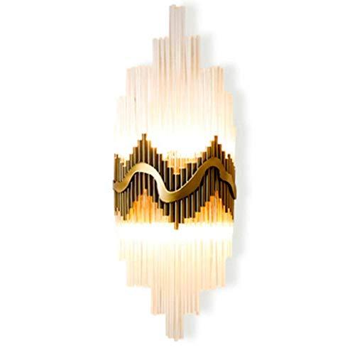 LMCLJJ Wandleuchten Kristall Wandleuchte Moderne Kristall Wandleuchte Chrom poliert Wandleuchte Beleuchtung Fixuture für Wohnzimmer Schlafzimmer Flur Küche -