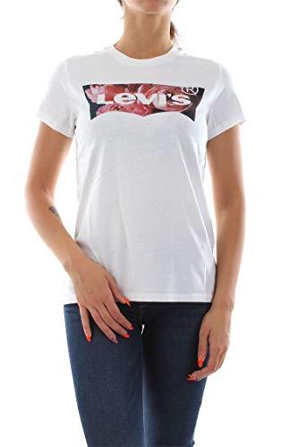 Levi's Damen The Perfect Tee T-Shirt, Weiß (Hsmk Photo Film White 0631), Medium (Herstellergröße: M) -