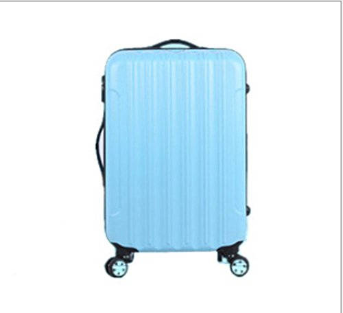 Xiuxiandianju ABS materiale esterno viaggio bagagli Trolley Case 20/24/28 pollici partita caso SuitcaseColour & formato differente (56-75L) days blue