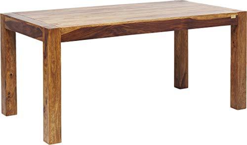 Kare Design Authentico, Esszimmertisch, Esstisch, Holztisch, Massivholztisch, Tisch aus Holz, (H/B/T) 75x200x100cm, Braun, ((BxT) 200x100cm