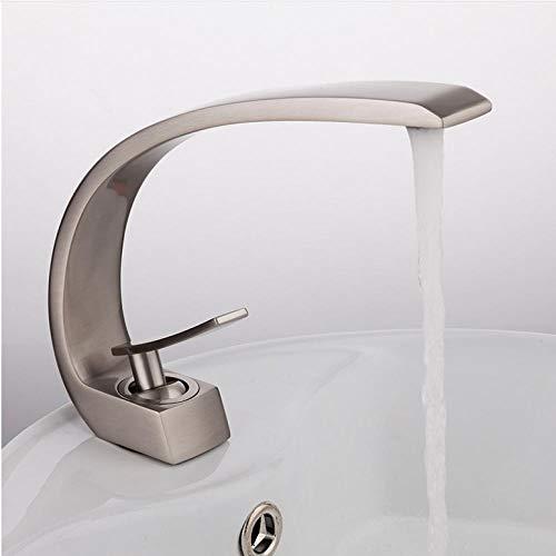 wffmx Neue Bad Waschbecken Wasserhahn Messing Chrom Wasserhahn Pinsel Nickel Waschbecken Mischbatterie Eitelkeit Heißes Kaltes Wasser Badarmaturen