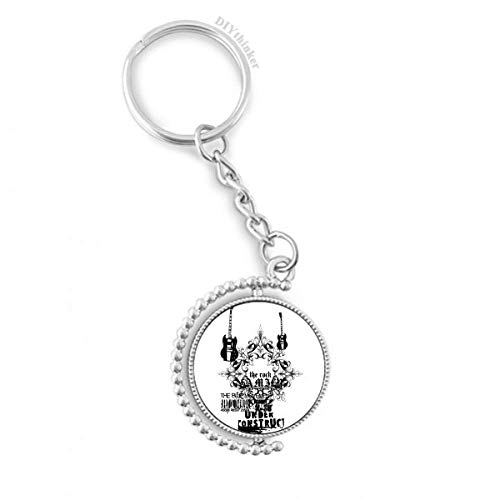 DIYthinker Gitarren-Musik-Gothic-Art-Muster Drehbare Schlüsselanhänger Ringe 1.2 Zoll x 3.5 Zoll...