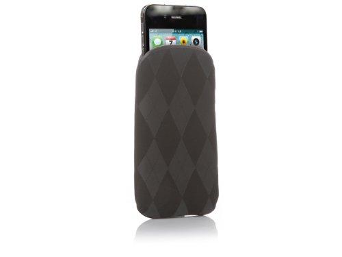 SBS Nabuk Handyhülle/Handysocke für iPhone, Dark grau Sweater Fantasy