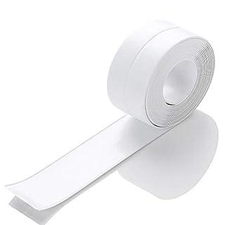 BingQing brand Tub And Wall Caulk Strip. Kitchen Caulk Tape Bathroom Wall Sealing Tape Waterproof Self-Adhesive Decorative Trim-white