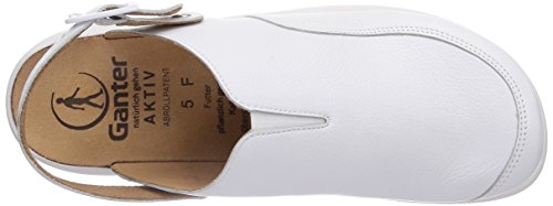Ganter AKTIV FABIA, Weite F, Mules femme Blanc - Weiß (weiss 0200)