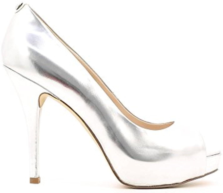 Guess Scarpe Donna Open Toe Helena 120 PL 25 Pelle Laminato argento E16GU49 | Modalità moderna  | Uomo/Donna Scarpa