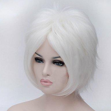 HJL-perruques de cheveux blancs hommes de mode , silver