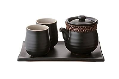 Tea Soul B6021534 Easy Steep Service Théière Céramique Noir/Blanc 23 x 15,50 x 13,30 cm