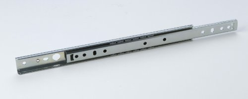 1 Paar Kugelauszug Schubladenführung Schubladenauszug Teilauszug, Metall verzinkt, Belastbarkeit 25-30kg, Länge 278mm, für 27mm Nut, Nut-Montage
