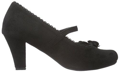 Andrea Conti 3002724, Escarpins femme Noir - Schwarz (Schwarz 002)