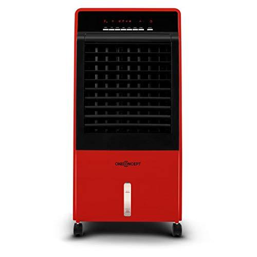 Oneconcept CTR-1 2G • V2 • Climatizzatore Mobile • Rinfrescatore Ambienti • Ventilatore • Umidificatore Portatile • Ruote e Maniglia • Sistema ad Acqua • 400 m³/h • Filtro Antipolvere • Color Rosso