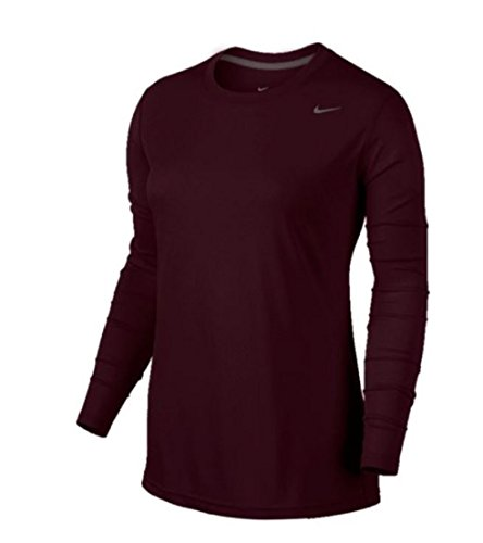 Nike Womens Long Sleeve Legend Shirt, (Team Maroon, XX-Large) (Long Shirt Nike Womens Sleeve)