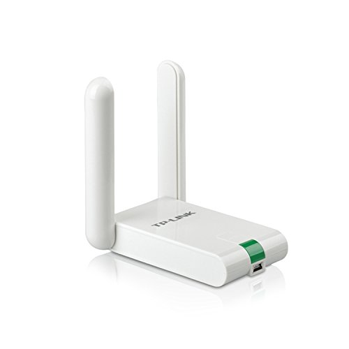 TP-Link TL-WN822N High Gain WLAN Adapter V4 (bis zu 300Mbit/s, WPS, Externe High-Gain-Antenne, mit USB-Verlängerungskabel, unterstützt Windows 10/8.x/Vista/7/XP, kompatibel mit Raspberry Pi) weiß
