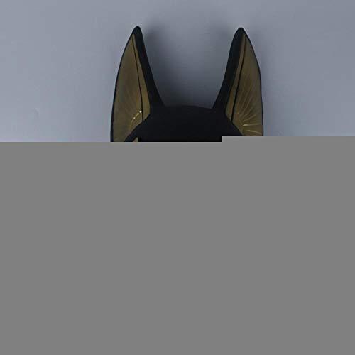 AffoOn Halloween Party Ägyptische Cosplay Gesichtsmaske Wolf Kopf Schakal Tier Maskerade Requisiten (Machen Anubis Kostüm)