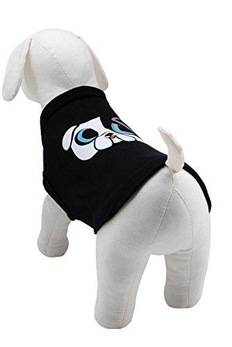 Für $30 Als Weniger Kostüm - Karl Lagerfeld Haustiere Hund T-Shirt, Farbe: Schwarz, Größe: 30