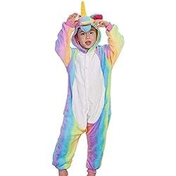 Socluer Pijamas Unisex de una Sola Pieza para niñas Unicornio Animal Ropa de Dormir Cosplay Navidad Regalo de cumpleaños