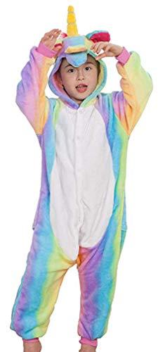 Socluer Kinder Unisex Mädchen Jungen Schlafanzug Cartoon Fleece Loose Casual Einhorn Jumpsuit Overall Cosplay ()