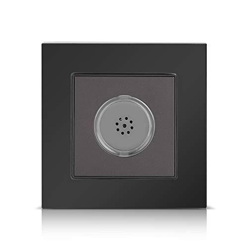 250 V Sound Sensor Control Wandschalter Gehärtetes Glasscheibe PIR Bewegungssensor Lichtschalter Anwesenheitssensor Schalter für Home Hotelgebrauch(Schwarz)