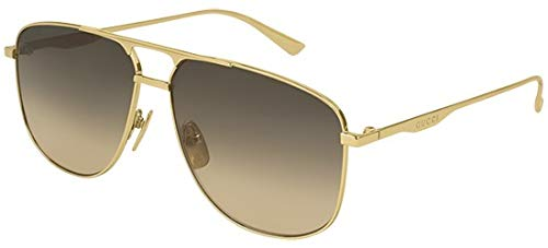 Gucci Sonnenbrillen GG0336S GOLD/BROWN SHADED Herrenbrillen