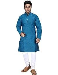 pentacrafts Multicolored Colour, Full Sleeve, Regular fit, South Cotton, Plain Long Kurta for Men