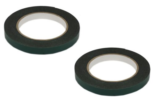 set-of-2-12mm-x-5m-black-multi-purpose-double-sided-adhesive-automotive-foam-car-body-tape