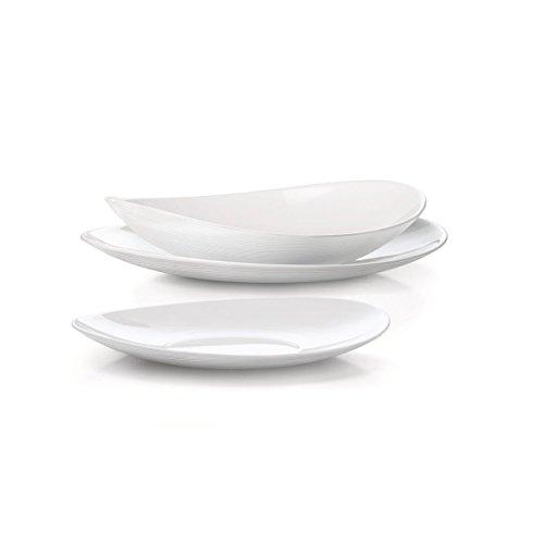 Bormioli Prometeo - Vajilla blanca para 6personas, 18piezas