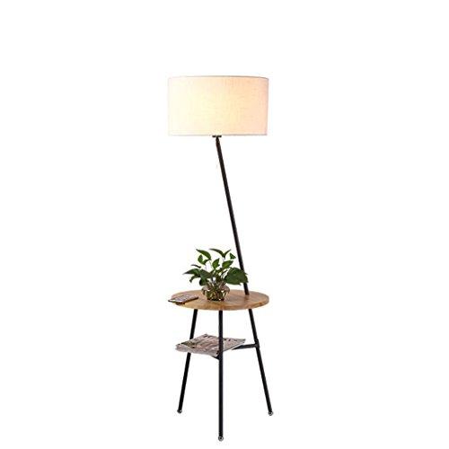 LEGELY Lampe de sol en bois massif de style japonais créatif, la lampe de chevet de salon lampe de table salon canapé nordique, lampadaire de trijumeau de bureau, couleur bois