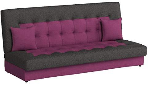Modernes Sofa Neon mit Bettkasten und Schlaffunktion, Lounge Couch, Bettsofa Schlafcouch Schlafsofa (Lux 16 + Lux 06)