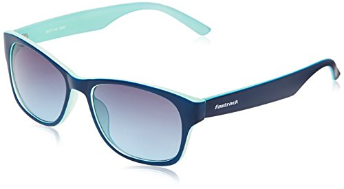 Fastrack Sundowner UV Protected Wayfarer Unisex Sunglasses - (PC001BK28|54|Blue lens)