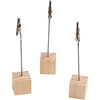STOBOK 10St Tischkartenhalter aus Holz Memohalter
