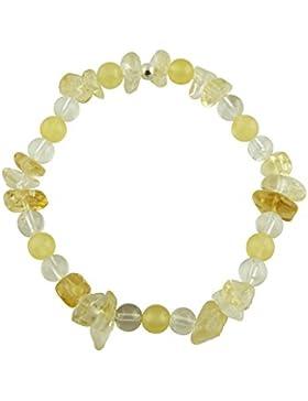 Edelstein Armband - Erzengel Jophiel - mit 925er Silber Perle, Heilsteinarmband, Stretcharmband